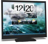 HTC Home — часы с погодой на рабочий стол