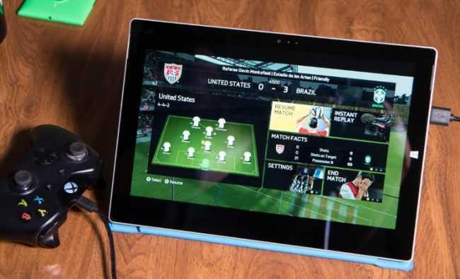 футбол на планшете