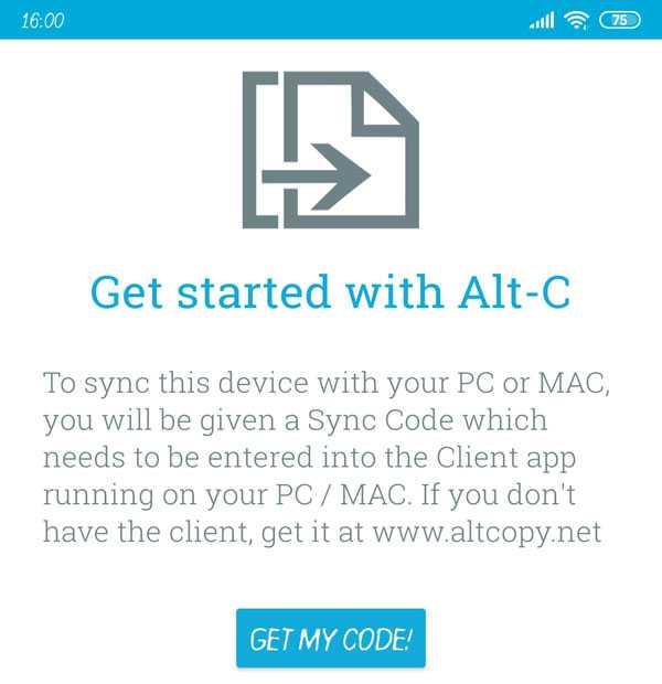 запуск Alt-C на смартфоне