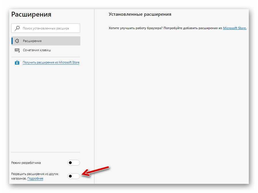 активация поддержки магазина Google Chrome